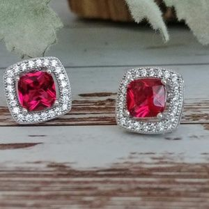 Raspberry Tourmaline Earrings